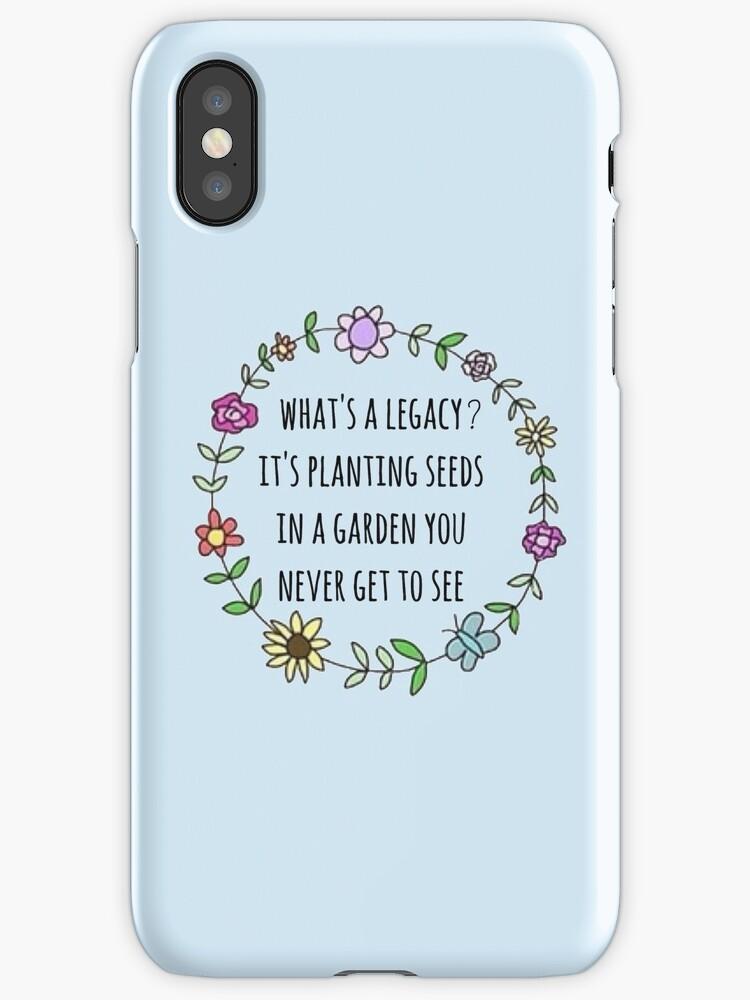 Quot Hamilton Legacy Quote Design Quot Iphone Cases Amp Skins By