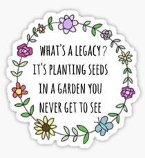 Hamilton Legacy Zitat Design Sticker