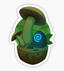Fungus Forest Block Sticker