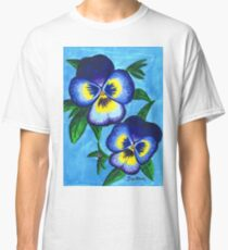 Pansies by Mary Bottom Classic T-Shirt