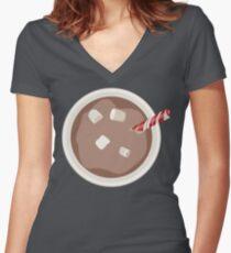 More Mocha Women's Fitted V-Neck T-Shirt