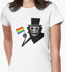 Babadook Flag Rainbow Womens Fitted T-Shirt