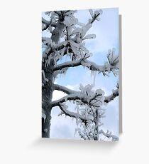 Freezing Tree Greeting Card