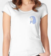 purple hair Women's Fitted Scoop T-Shirt