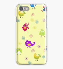 funny and colorful birds of paradise. summer pattern iPhone Case/Skin
