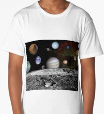 Space Design - Solar System Long T-Shirt