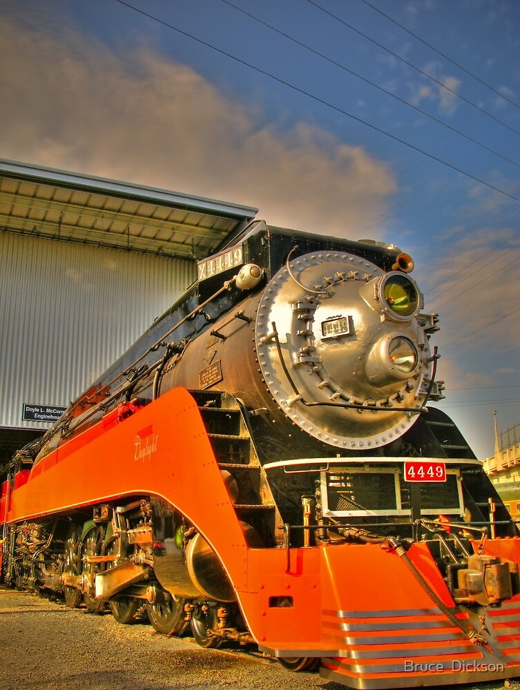 The Southern Pacific 4449  by Bruce  Dickson