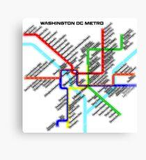 Washington DC Metro Map Canvas Print