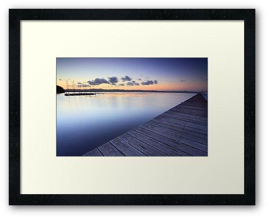 Long Jetty Australia at Dusk seascape landscape by Leah-Anne Thompson