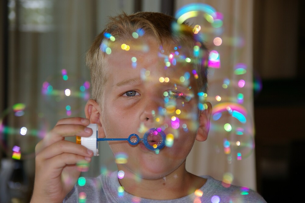 Boy in a bubble by Deidre Cripwell