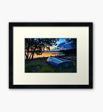 Beautiful Sunset Kincumber Australia seascape landscape Framed Print