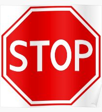 Red stop sign Poster