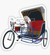 Traditional Asian Rickshaw Sticker