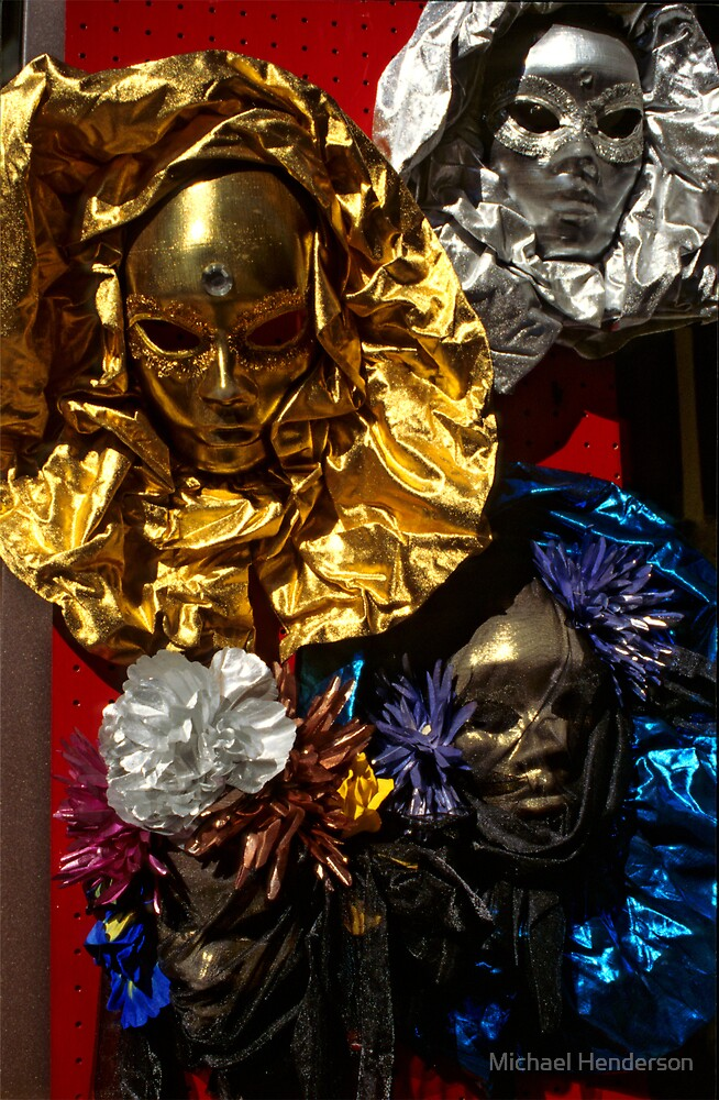 Masks in Venice by Michael Henderson