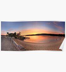 Sunrise Balmoral Beach Panorama  Australia seascape landscape Poster