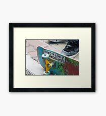 Skateboarding is not a Crime Framed Print