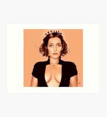 Gillian Anderson 2 Art Print