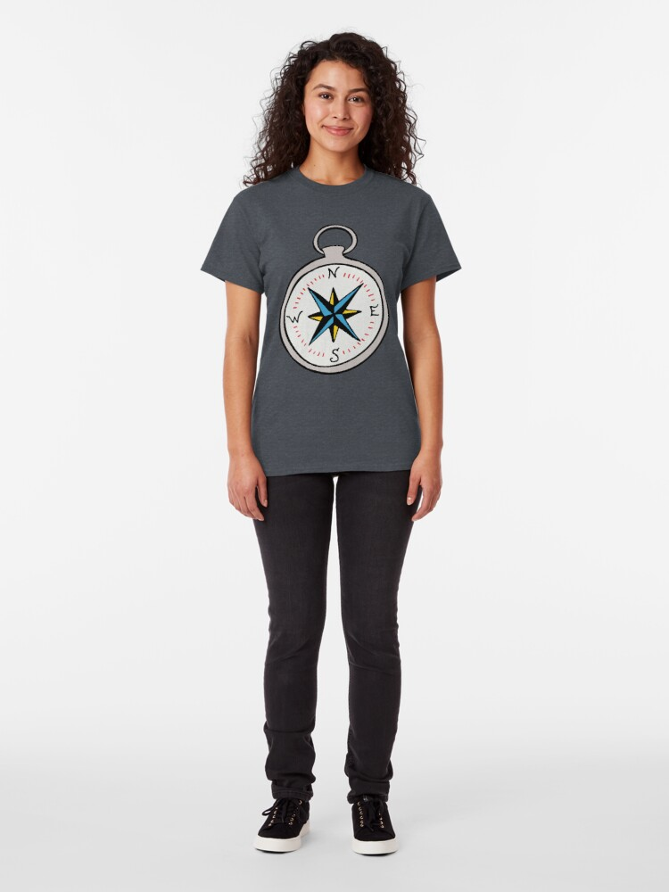 Alternate view of Traditional Compass  Classic T-Shirt