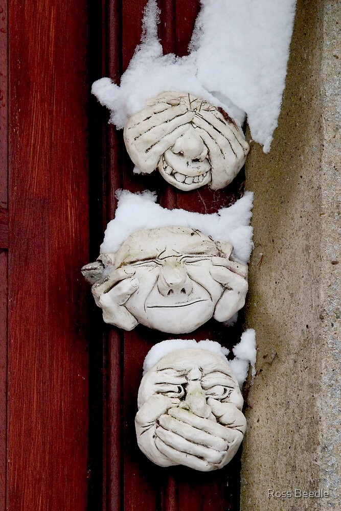 See no evil, hear no evil, speak no evil & Snow by Ross Beedle