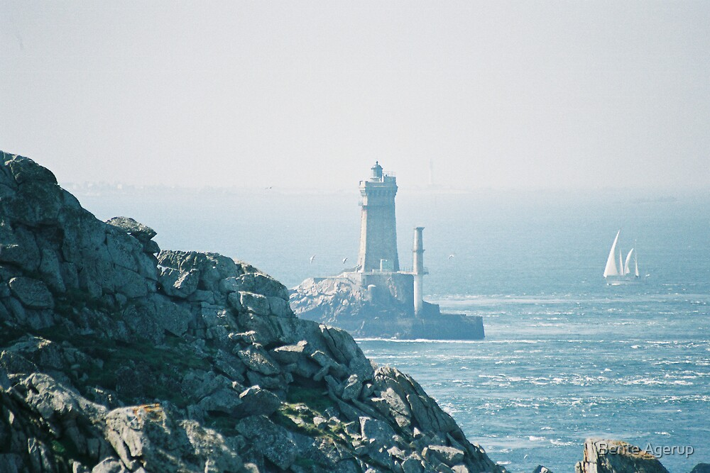 Light house in Bretagne by Bente Agerup