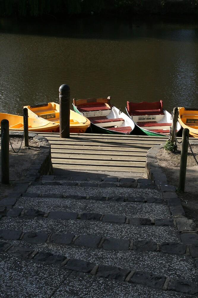 Boats On The Yarra by Dan Bradford