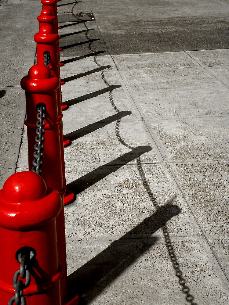 Red Poles by Vee T