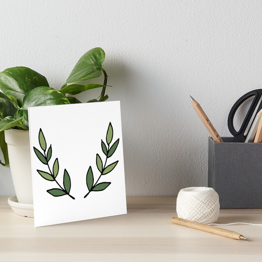 Traditional Leaves Art Board Print