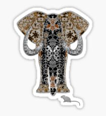 Ganesha and Mooshika Sticker