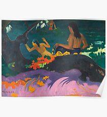 By the Sea (Fatata te Miti) Paul Gauguin 1892  Poster