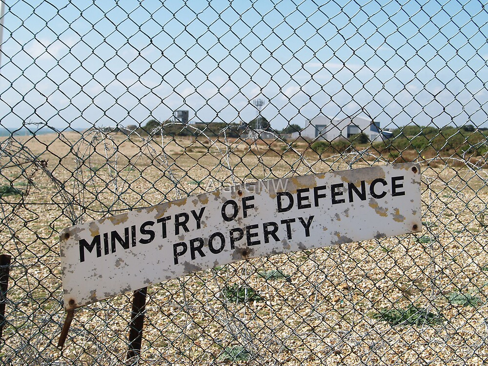 Ministry of Defence Sign, Porstsmouth by Alan Gandy