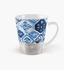 Arabesque tile art - silver graphite Tall Mug