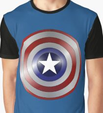 metallic america shield Graphic T-Shirt