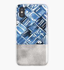 Arabesque tile art ii - silver graphite iPhone Case