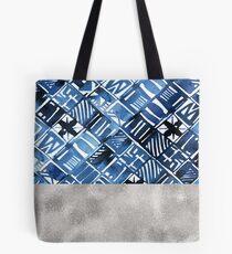 Arabesque tile art ii - silver graphite Tote Bag