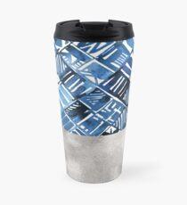 Arabesque tile art ii - silver graphite Travel Mug