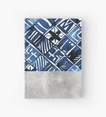 Arabesque tile art ii - silver graphite Hardcover Journal