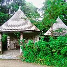 Gazebos in the garden at Glenveagh Castle, Donegal, Ireland by Shulie1