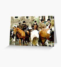 Horse Trek Greeting Card