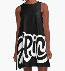 EPIC Lettering - Graffiti Style on Black A-Line Dress