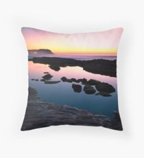 Merewether Ladies Ocean Pool Reflections Throw Pillow