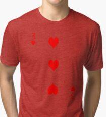 3 of Hearts Tri-blend T-Shirt