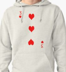 3 of Hearts Pullover Hoodie