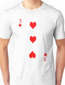 3 of Hearts Unisex T-Shirt