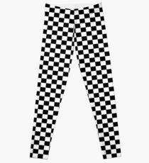 Chequered Flag Leggings - Checkered Racing Car Winner Jeggings Leggings