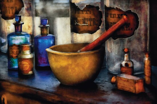 Pharmacist - Mortar and Pestle by Michael Savad