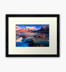 Light over wild water Framed Print