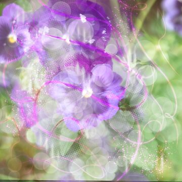 Purple and green flowers  by Rosedoggz