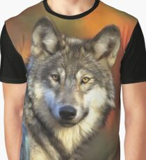 AUTUMN WOLF Graphic T-Shirt