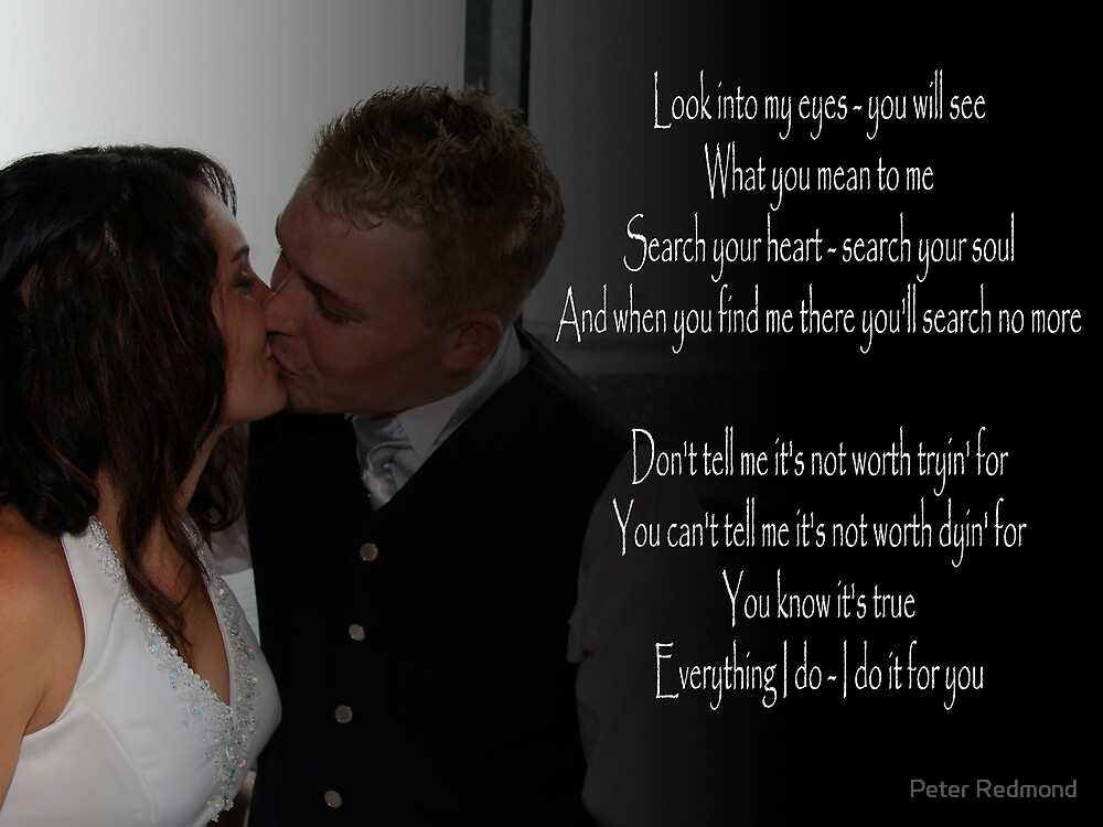 Wedding Song lyrics by Peter Redmond