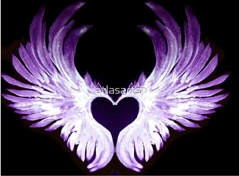 Quot Purple Angel Heart Wings 2 Quot Art Prints By Atlasartsn